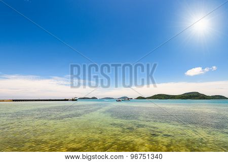 Sea And Beach Under The Sun In The Summer, Thailand
