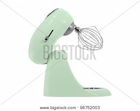 kitchen mixer with a beater isolated on white background