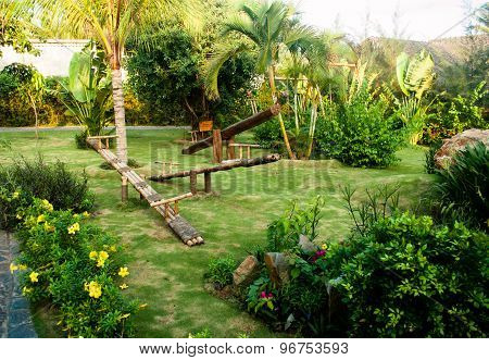Eco Playground In Tropical Place