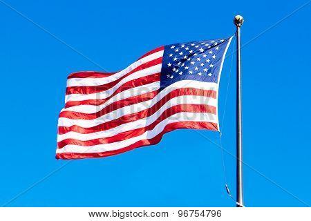 Flapping U.S.A. flag