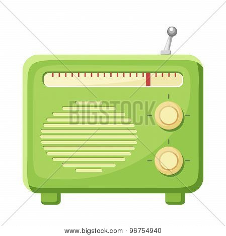 Radio isolated on a white background. Vector illustration.