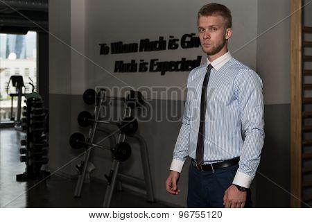 Portrait Of A Businessman In Gym