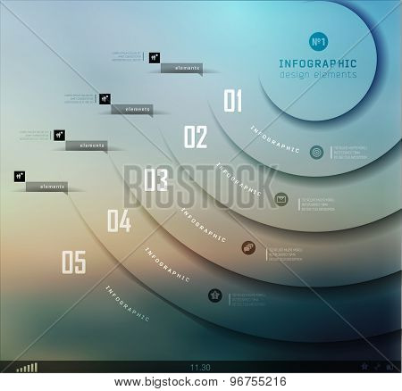 Transparent business Infographics. Shadows
