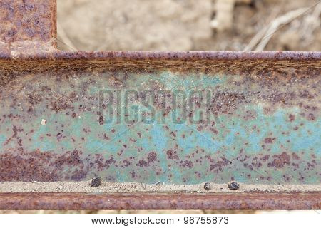 Abstract Aged Vintage Iron Beam Background.