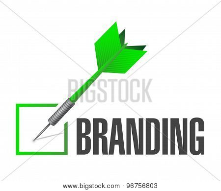 Branding Check Dart Sign Concept Illustration