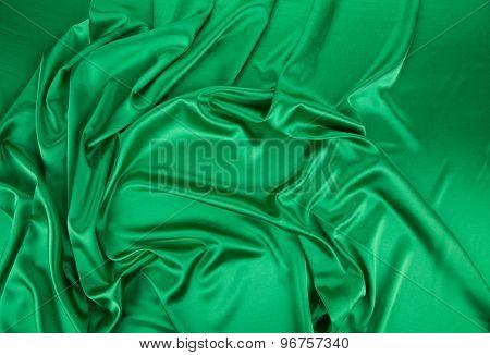 Green silk background
