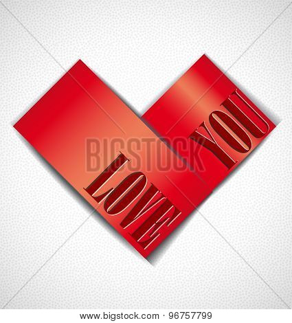 Greeting card with heart.