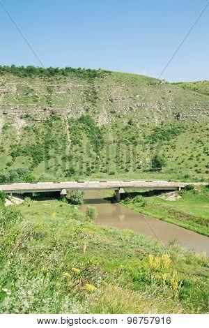 Bridge through the river