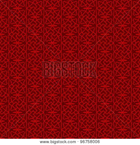Seamless Chinese window tracery spiral square geometry pattern background.