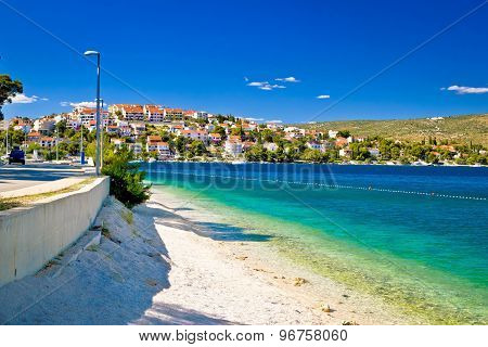 Amazing Turquoise Beach Of Rogoznica Town