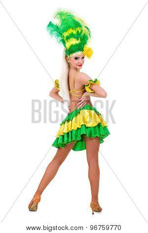 beautiful carnival dancer woman posing