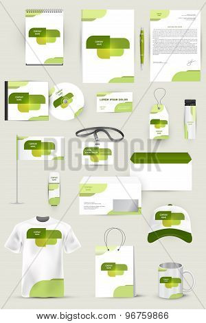 Collection of design elements for corporate identity business, advertising or visualization.