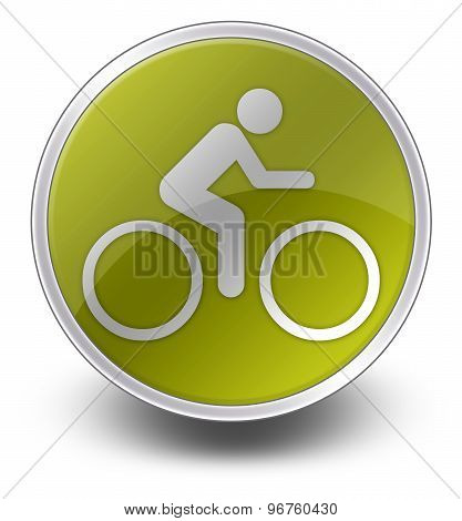 Icon, Button, Pictogram Bicycle
