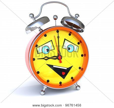 Alarm Clock With Smiley Face