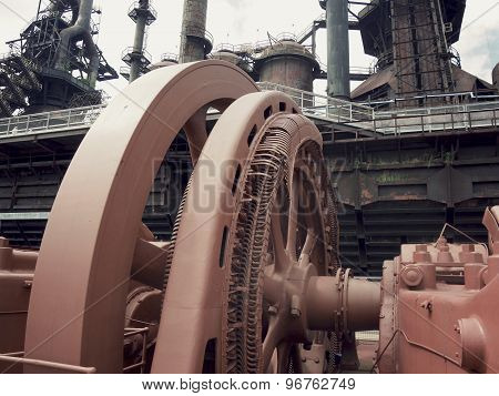 Abandoned Steel Mill Flywheel