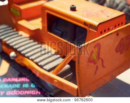 Toy Bulldozer Construction Vehicle