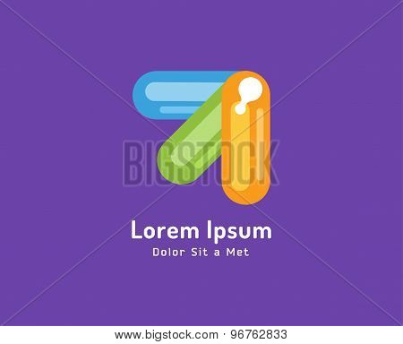 Vector colored arrows isolated on white background. Stock illustration. Abstract, arrow, shape, up,