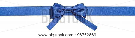 Blue Ribbon And Real Bow With Square Cut Ends
