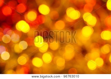 Brown, Yellow And Red Twinkling Christmas Lights