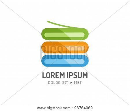 Abstract colored book stack vector icon. Isolated on white background. Books, store, shop, library,