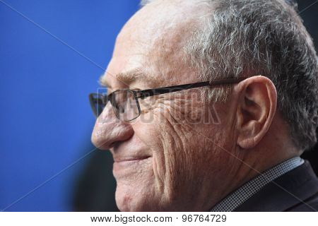 Alan Dershowitz in Times Square