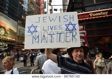 Jewish Lives Matter sign