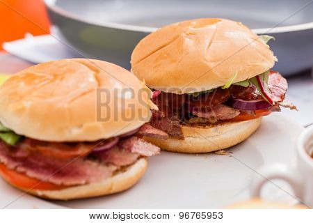 chef making burger