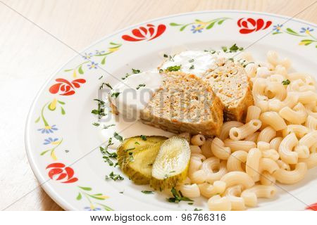meat loaf with pasta
