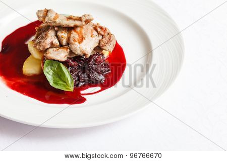 meat with mashed potato