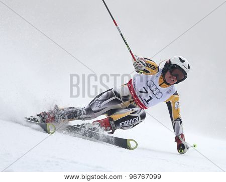 GARMISCH PARTENKIRCHEN, GERMANY. Feb 17 2011: PILAT Elizabeth (AUS) competing in the women's giant slalom  race  at the 2011 Alpine skiing World Championships