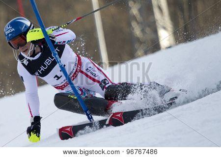 GARMISCH PARTENKIRCHEN, GERMANY. Feb 14 2011: Benjamin Raich (AUT) competing in the men's slalom at the 2011 Alpine skiing World Championships