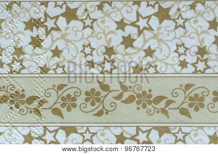 Beautiful vintage napkin christmas motive background paper texture