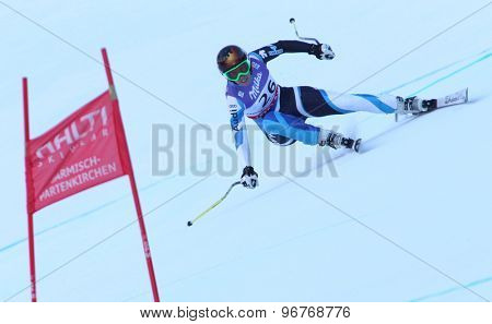GARMISCH PARTENKIRCHEN, GERMANY. Feb 08 2011: Carolina Ruiz-Castillo (SPA) whilst competing in the women's super giant slalom race at the 2011 Alpine skiing World Championships