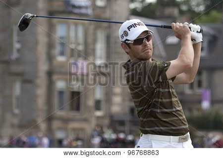 ST ANDREWS, SCOTLAND. July 18 2010: Louis OOSTHUIZEN from South Africa in action during the final round of The Open Championship   played on The Royal and Ancient Old Course