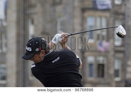 ST ANDREWS, SCOTLAND. July 18 2010: Lee WESTWOOD from England in action during the final round of The Open Championship   played on The Royal and Ancient Old Course