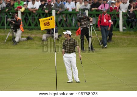 ST ANDREWS, SCOTLAND. July 18 2010: Louis OOSTHUIZEN from South Africa on his way up the 18th fairway on his way to winning The Open Championship    played on The Royal and Ancient Old Course