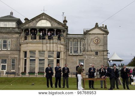 ST ANDREWS, SCOTLAND. July 18 2010:  Louis OOSTHUIZEN from South Africa winner of The Open Championship    played on The Royal and Ancient Old Course