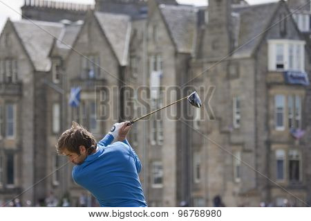 ST ANDREWS, SCOTLAND. July 18 2010: Robert ROCK from England in action during the final round of The Open Championship   played on The Royal and Ancient Old Course