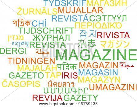 Background concept wordcloud multilanguage international many language illustration of magazine