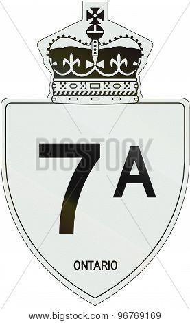 Ontario Highway Shield 7A