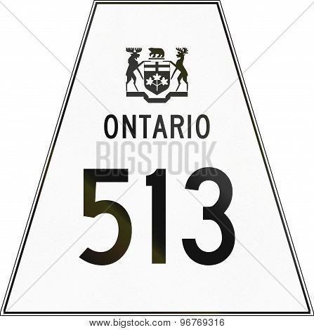 Ontario Highway Shield 513