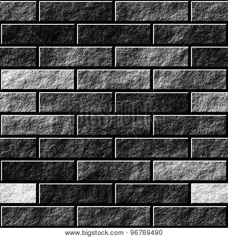 Seamless Brick Wall Pattern - Mnochromatic