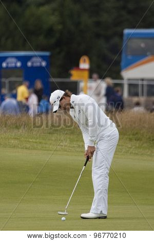 ST ANDREWS, SCOTLAND. July 18 2010: Camilo VILLEGAS from Colombia in action during the final round of The Open Championship   played on The Royal and Ancient Old Course