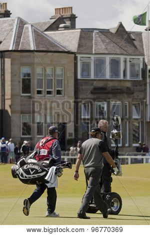ST ANDREWS, SCOTLAND. July 17 2010: Phil MICKELSON from USA in action during the third round of The Open Championship   played on The Royal and Ancient Old Course