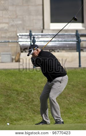 ST ANDREWS, SCOTLAND. July 17 2010: Tom LEHMAN from the USA in action during the third round of The Open Championship   played on The Royal and Ancient Old Course