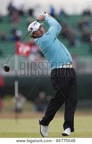 ST ANDREWS, SCOTLAND. July 15 2010: Graeme McDOWELL from Northern Ireland in action on the first day of The Open Championship   played on The Royal and Ancient Old Course