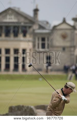 ST ANDREWS, SCOTLAND. July 15 2010: Tom WATSON from the USA in action on the first day of The Open Championship   played on The Royal and Ancient Old Course