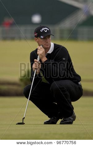 ST ANDREWS, SCOTLAND. July 15 2010: Alexander NOREN from Sweden in action on the first day of The Open Championship   played on The Royal and Ancient Old Course