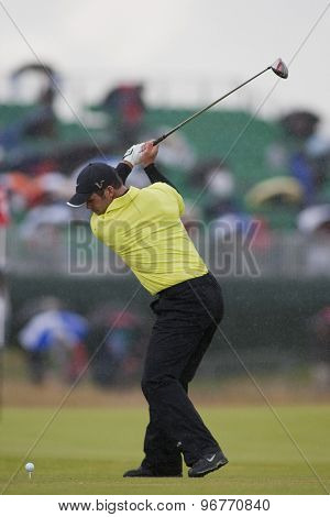 ST ANDREWS, SCOTLAND. July 15 2010: Paul CASEY from England in action on the first day of The Open Championship   played on The Royal and Ancient Old Course