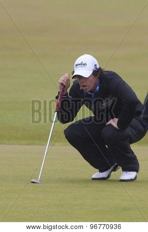 ST ANDREWS, SCOTLAND. July 15 2010: Rory McILROY from Northern Ireland in action on the first day of The Open Championship   played on The Royal and Ancient Old Course